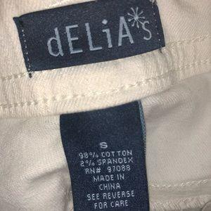 fa87672a1e40 dELiA s Pants - Delias white overalls American flag pockets